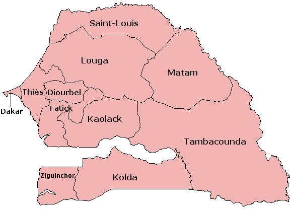 Senegal Regions