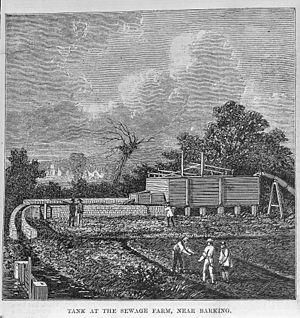 Sewage farm - A 19th-century sewage farm near Barking, England