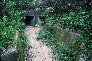 English: Entry of the galleries from Shing Mun...