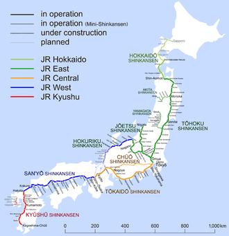 Rail travel in Japan – Travel guide at Wikivoyage on dublin rail map, australia rail map, seoul rail map, ibaraki rail map, new york rail map, korea rail map, china rail map, india rail map, tokyo rail map, france rail map, jr rail map, vienna rail map, japan rail map, england rail map, ireland rail map, istanbul rail map, edinburgh rail map, osaka rail map, europe rail map, spain rail map,