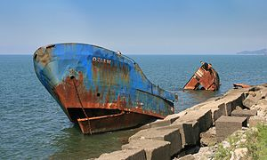 Description: The Shipwreck Ozlem at Black Sea ...