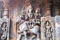 Shiva Parvathi riding the Bull Hoysaleswara Temple Halebid.jpg
