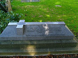 Annie Besant - Grave of Frank Besant at Sibsey, where he remained vicar until his death