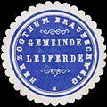Siegelmarke Gemeinde Leiferde H. Braunschweig W0382768.jpg