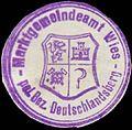 Siegelmarke Marktgemeindeamt Wies pol. Bez. Deutschlandsberg W0386623.jpg
