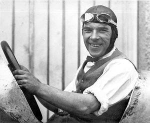 Sig Haugdahl - Sig Haugdahl (1922) seated at the wheel of his Miller 8 Special