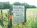 Sign at Rosewell Ruins, May, 2013 - 2.JPG