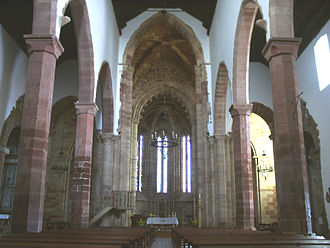 Silves Cathedral - View towards the main chapel.