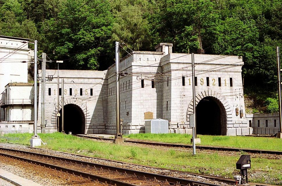 Simplon railway tunnel entrance switzerland