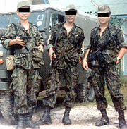 Singapore Army Combat Trackers in Brunei, early 1980s