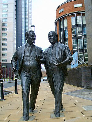 John Moores (British businessman) - Statue of John and Cecil Moores