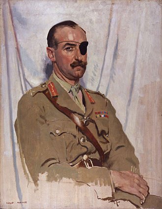 Adrian Carton de Wiart - Painting by Sir William Orpen, 1919 (National Portrait Gallery, London)