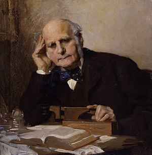 Wisdom of the crowd - Sir Francis Galton by Charles Wellington Furse, given to the National Portrait Gallery, London in 1954