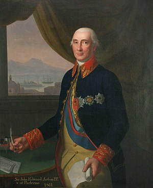 Invasion of Algiers (1775) - Portrait of Sir John Acton, attributed to Emanuele Napoli.