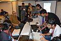 Sirshendu Mukhopadhyay at Wikipedia Booth - Apeejay Bangla Sahitya Utsav - Kolkata 2015-10-10 5159.JPG