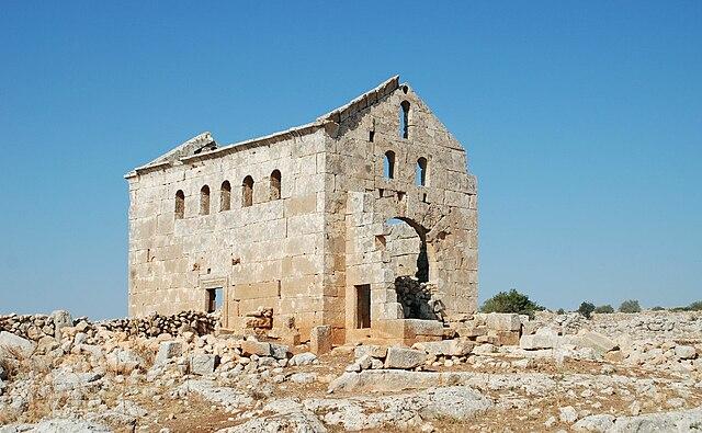 La ciudad muerta de Sitt er-Rum, Siria. Iglesia del sureste