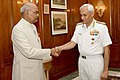 Six women officers of The Indian Navy, who successfully circumnavigated the globe on the sailing vessel, INSV Tarini, call on President Ram Nath Kovind (1).jpg