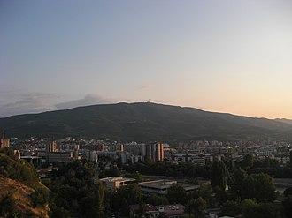 Vodno - Image: Skopje pano