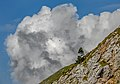 Slope with a cloud in Karawanks, Slovenia.jpg