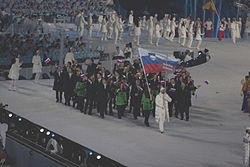 Slovenia at 2010 Winter Olympics opening ceremony.jpg