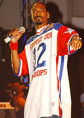 Snoop Dogg performing live in Hawaii in 2005.