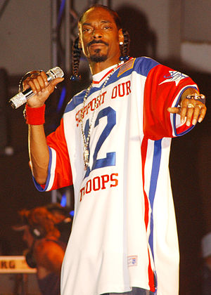 Doggystyle - Snoop Dogg (formerly known as Snoop Doggy Dogg) (pictured in 2005) wrote the majority of Doggystyle while in the studio.