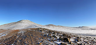 Atacama Desert - Snow in Paranal Observatory at 2,600 masl
