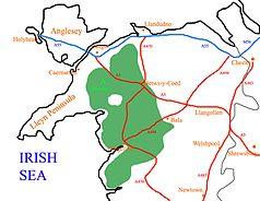 Lage des Nationalparks im Norden von Wales