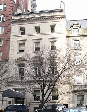New York Society Library - Library building, former John S. Rogers mansion, on East 79th Street in Manhattan, 2009