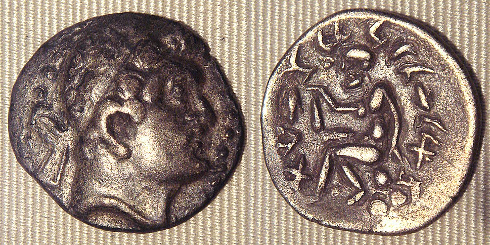 Sogdian barbaric copy of a coin of Euthydemus