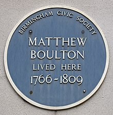 Soho House blue plaque, Handsworth, Birmingham, England-10May2010.jpg
