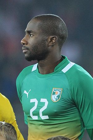 Sol Bamba - Bamba with Ivory Coast in 2012
