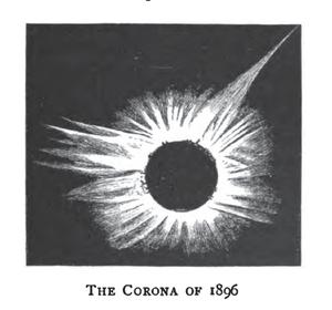 Solar Saros 124 - Image: Solar eclipse 1896Aug 09 Corona