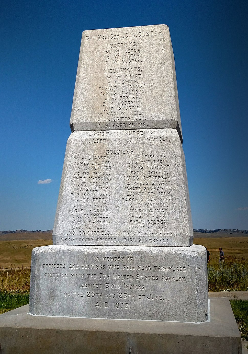 Soldier memorial little bighorn 1