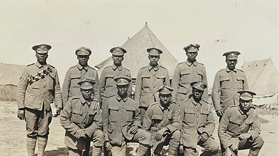 Soldiers of the Bermuda Contingent of the Royal Garrison Artillery in a Casualty Clearing Station in July, 1916 Soldiers of the Bermuda Contingent of the Royal Garrison Artillery in a CCS in July 1916.jpg