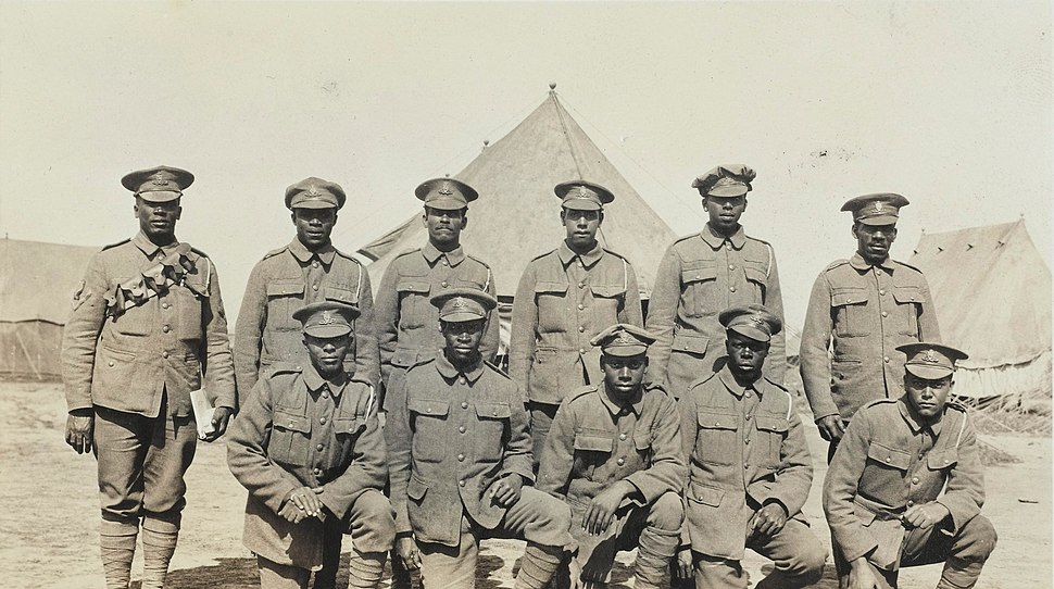 Soldiers of the Bermuda Contingent of the Royal Garrison Artillery in a CCS in July 1916