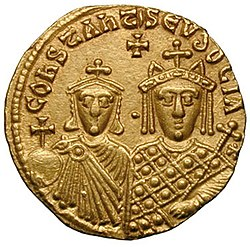 Solidus-Basil I with Constantine and Eudoxia-sb1703 (reverse).jpg