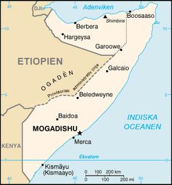Minst 21 doda i strider i somalia