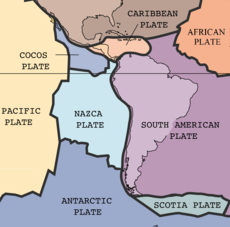 The plates involved are the Nazca and South American plates Image: USGS.