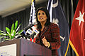 South Carolina Gov. Nikki Haley joins U.S. military service members and community business partners for the launch of Operation Palmetto Employment, a statewide military employment initiative aimed at making 140226-F-XH297-660.jpg