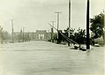 South on DeBaliviere Avenue from Wabash Railroad toward the Jefferson Memorial Building. River Des Peres flood of August 1915.jpg