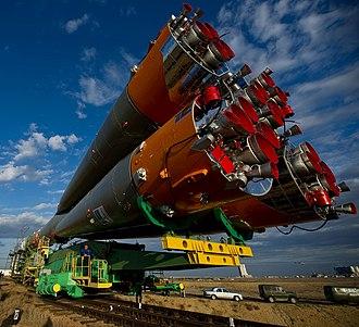 Soyuz TMA-01M - Image: Soyuz TMA 01M rollout