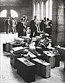 Spaanse arbeiders terug naar Spanje. In de hal van het station van Maastricht wa, Bestanddeelnr 121-0415.jpg