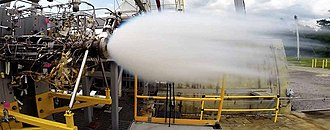 Raptor (rocket engine family) - Testing of the Raptor's oxygen preburner at Stennis in 2015