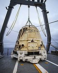 SpaceX CRS-11 Dragon capsule after splashdown.jpg