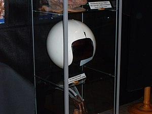 Spaceballs - A helmet from the film at a convention in Stockholm, Sweden.