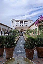 Flowing water in the Palacio de Generalife
