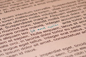 Typographical error - Correction fluid is used to correct typographical errors after the document is printed.