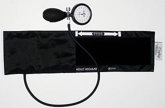 Sphygmomanometer - Aneroid sphygmomanometer with an adult cuff