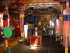 Tangyud Monastery - Inside Assembly Hall, Tangyud, Spiti